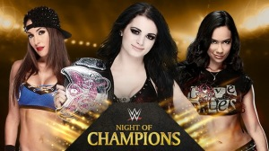 WWE Night Of Champions 2014 - Divas Championship Triple Threat Match - Nikki Bella VS Paige VS AJ Lee